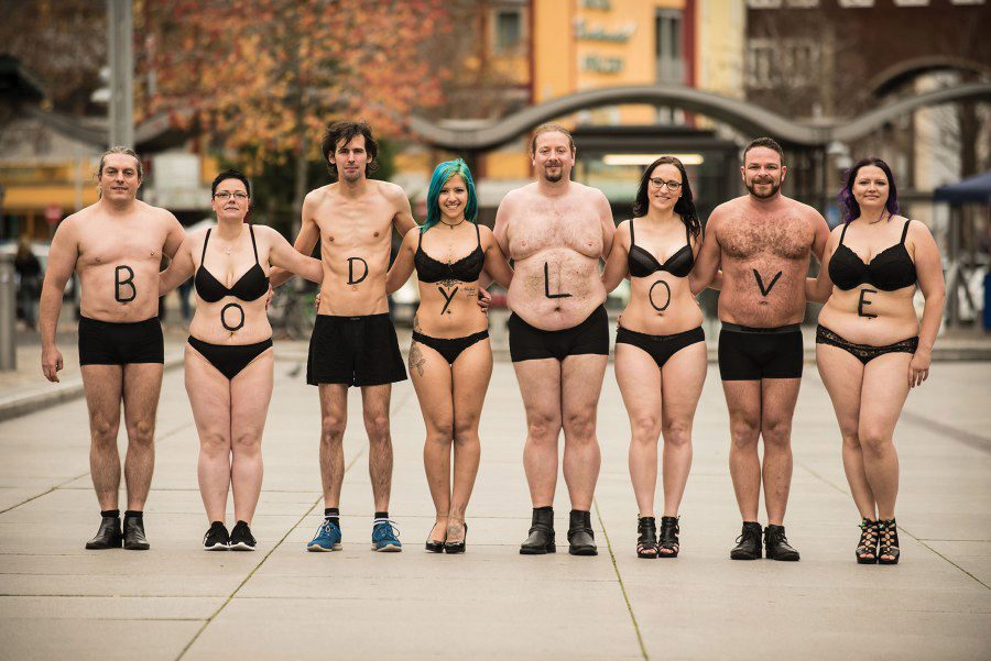 Body positivity campaign in Germany.