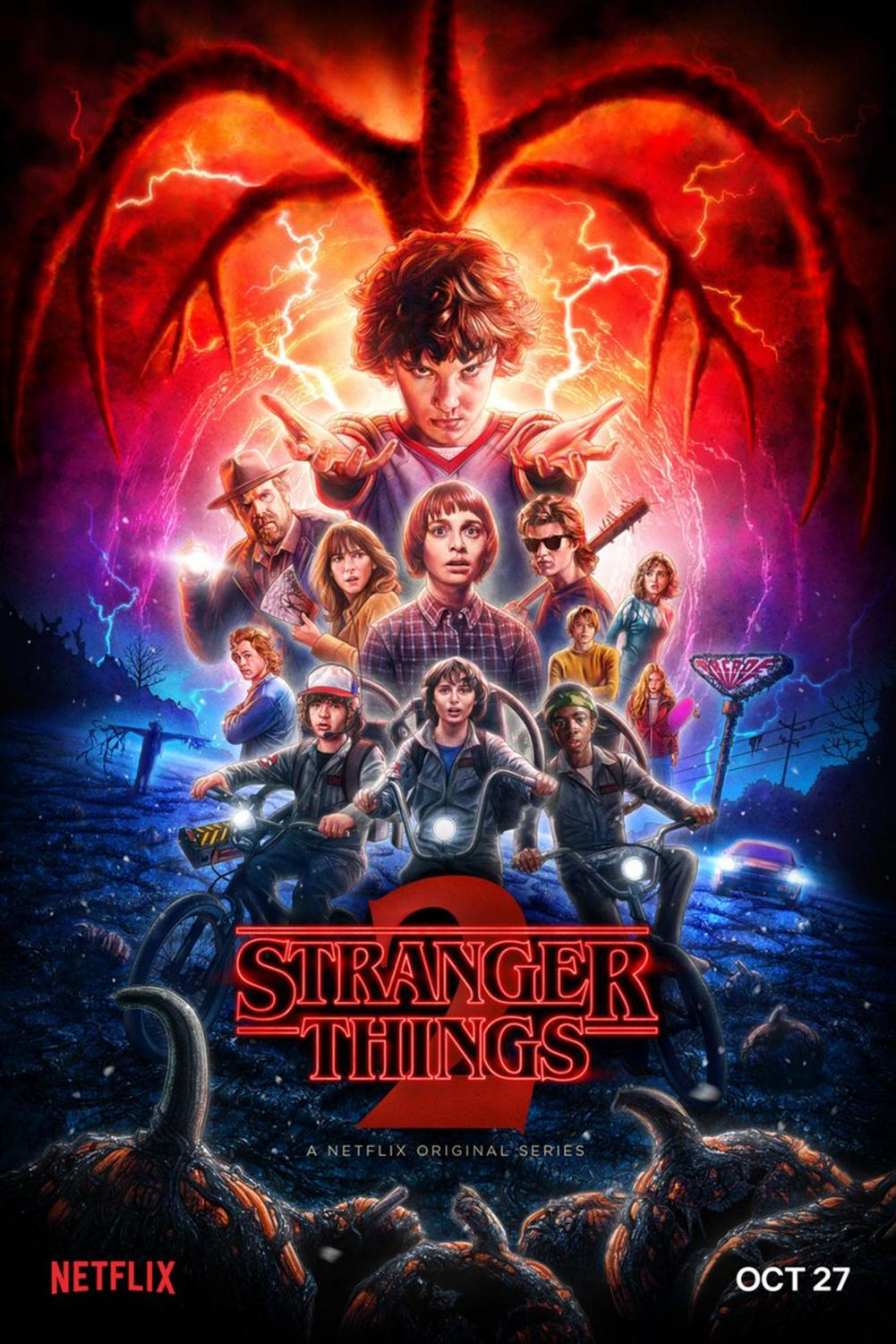 Poster for season two of Stranger Things